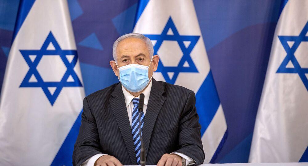 رئيس الوزراء الإسرائيلي بنيامين نتنياهو عقب تصاعد التوتر العسكري على الحدود اللبنانية الإسرائيلية، لبنان، إسرائيل 27 يوليو 2020