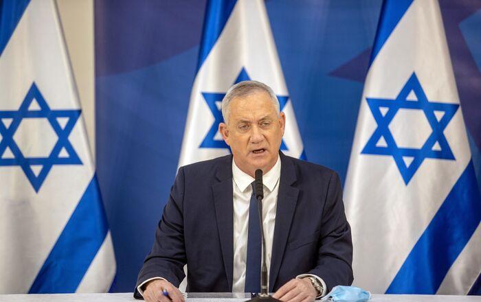وزير الدفاع الإسرائيلي بيني غانتس عقب تصاعد التوتر العسكري على الحدود اللبنانية الإسرائيلية، لبنان، إسرائيل 27 يوليو 2020