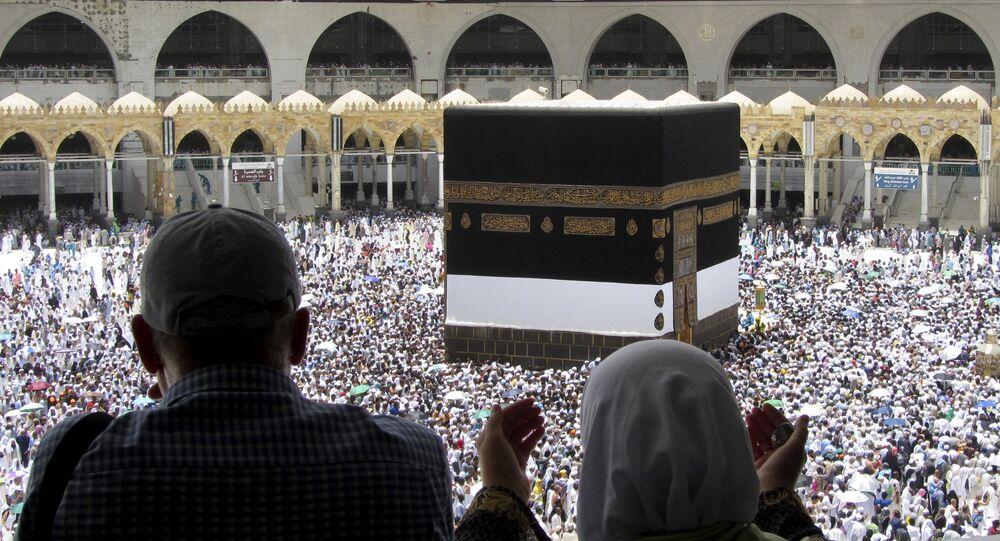 الحجاج في مكة في العام الماضي، 13 أغسطس 2019