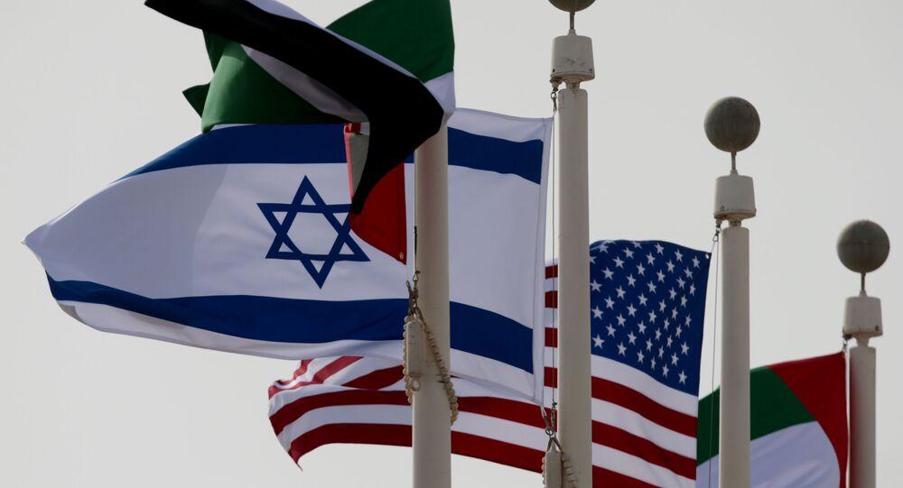وصول الطائرة الإسرائيلية إلى مطار أبو ظبي، الإماارات 31 أغسطس 2020