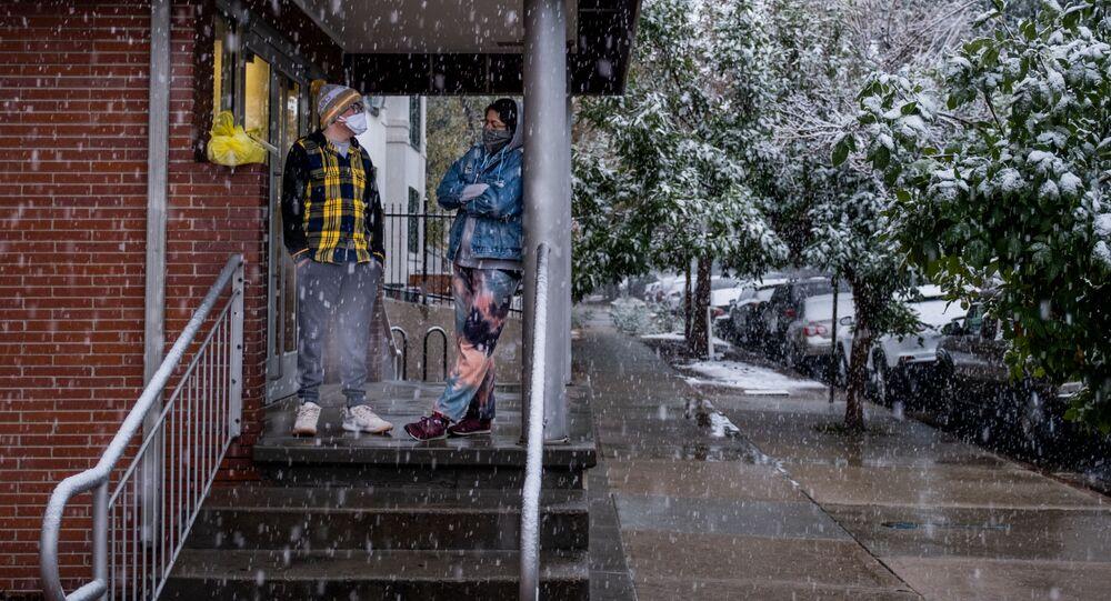 تغير المناخ المفاجئ في الولايات المتحدة - تساقط الثلوج في دنفر في ولاية كولورادو، 8 سبتمبر 2020