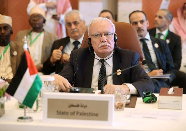 وزير الخارجية الفلسطيني رياض المالكي، صورة أرشيفية  2019