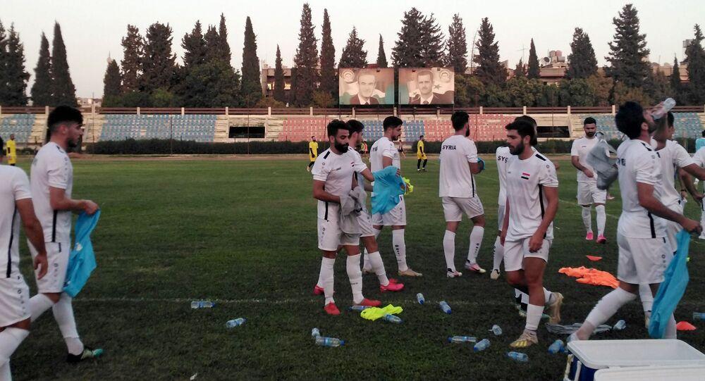 المنتخب السوري ضمن معسكره التدريبي المقام في دمشق