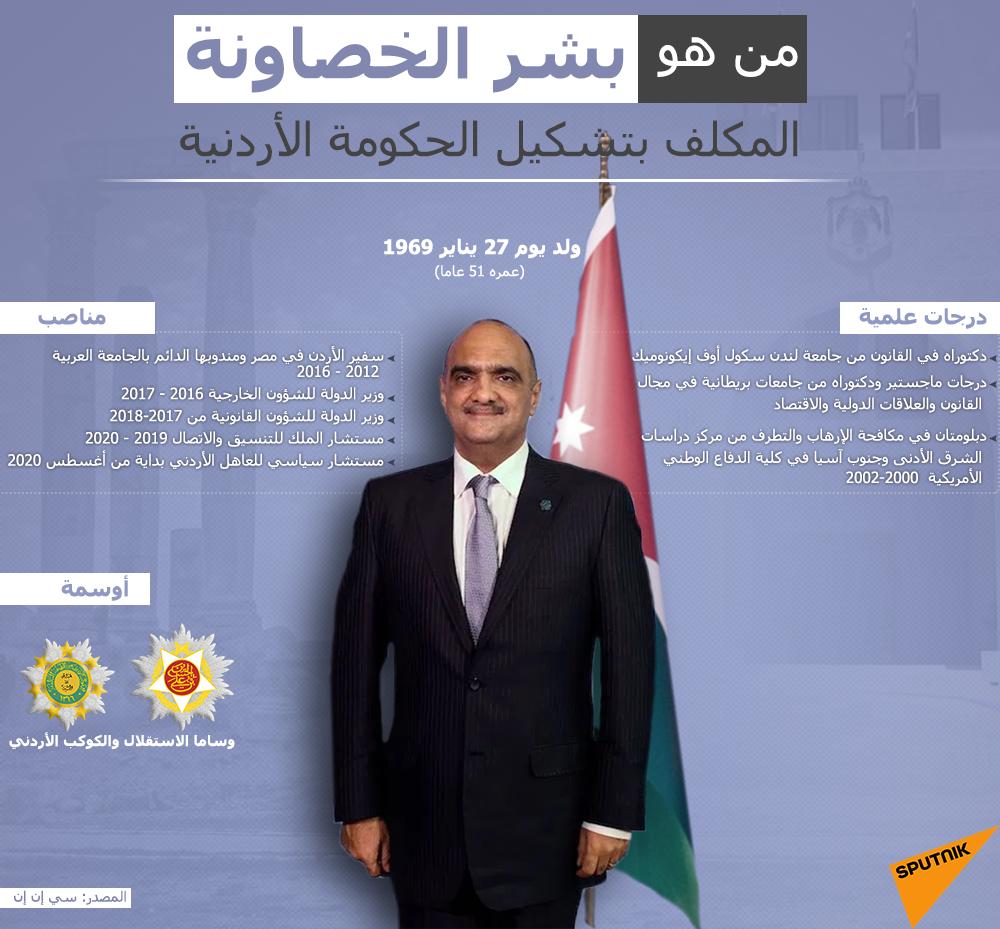 من هو بشر الخصاونة المكلف بتشكيل الحكومة الأردنية