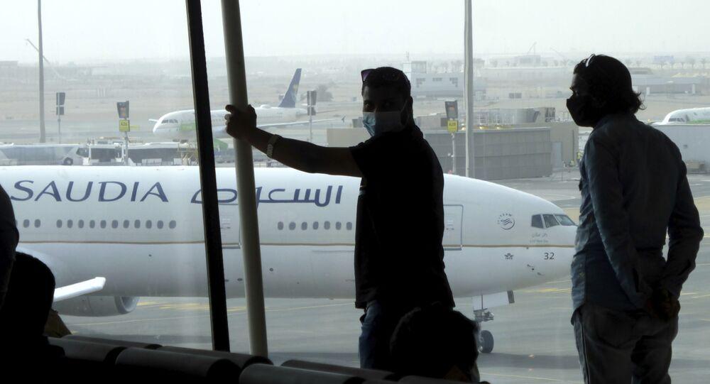 الخطوط الجوية السعودية، مطار الملك عبدالعزيز الدولي، جدة، المملكة العربية السعودية يوليو 2020
