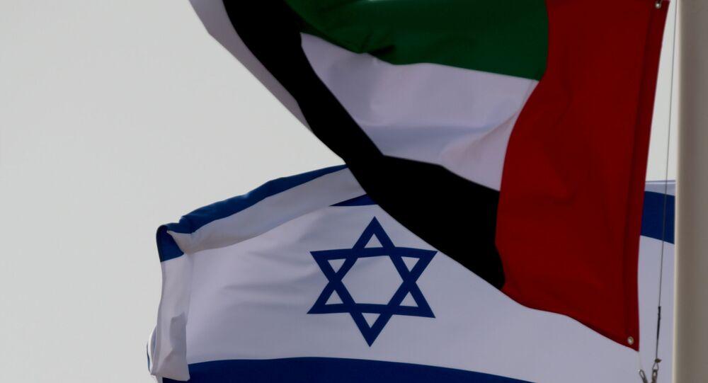 علم الإمارات و علم أبو ظبي، أغسطس 2020