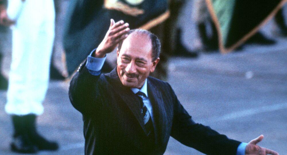 الرئيس المصري الراحل، أنور السادات