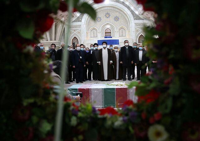 مراسم دفن العالم النووي والدفاعي الإيراني محسن فخري زاده، طهران، إيران 28 نوفمبر 2020