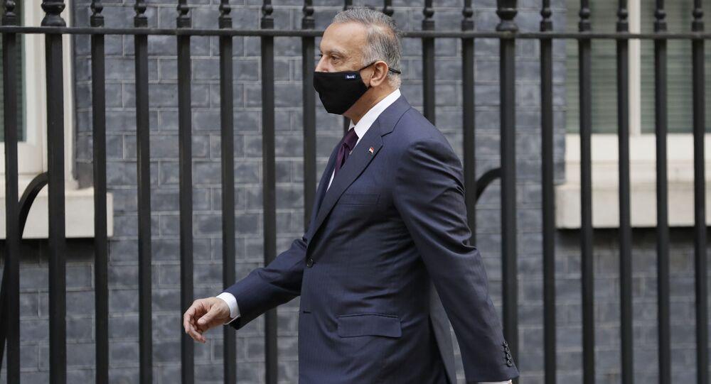 رئيس مجلس الوزراء العراقي القائد العام للقوات المسلحة، مصطفى الكاظمي في لندن إنجلترا  22 أكتوبر 2020