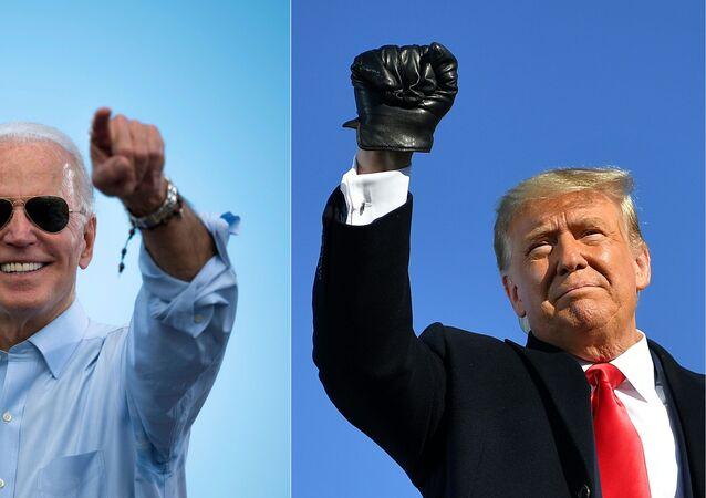الرئيس الأمريكي الحالي دونالد ترامب والرئيس المنتخب جو بايدن