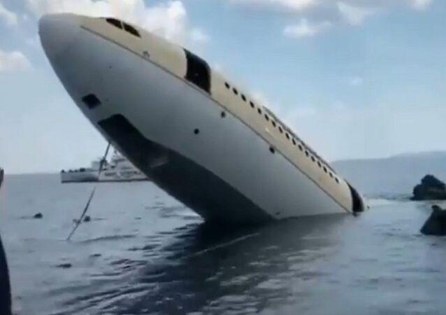 غرق طائرة مدنية