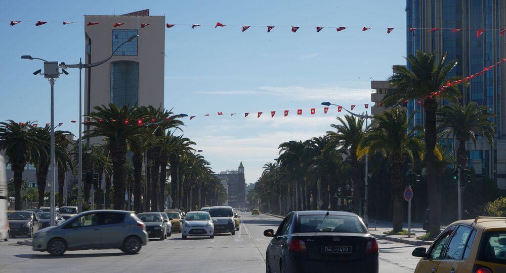 شوراع مدينة تونس، تونس 21 يناير 2021