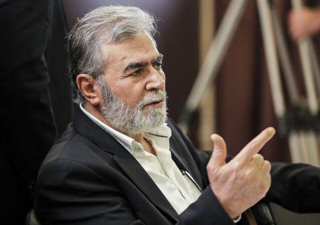 الأمين العام لحركة الجهاد الإسلامي زياد النخالة، بيروت، لبنان 3 سبتمبر 2020