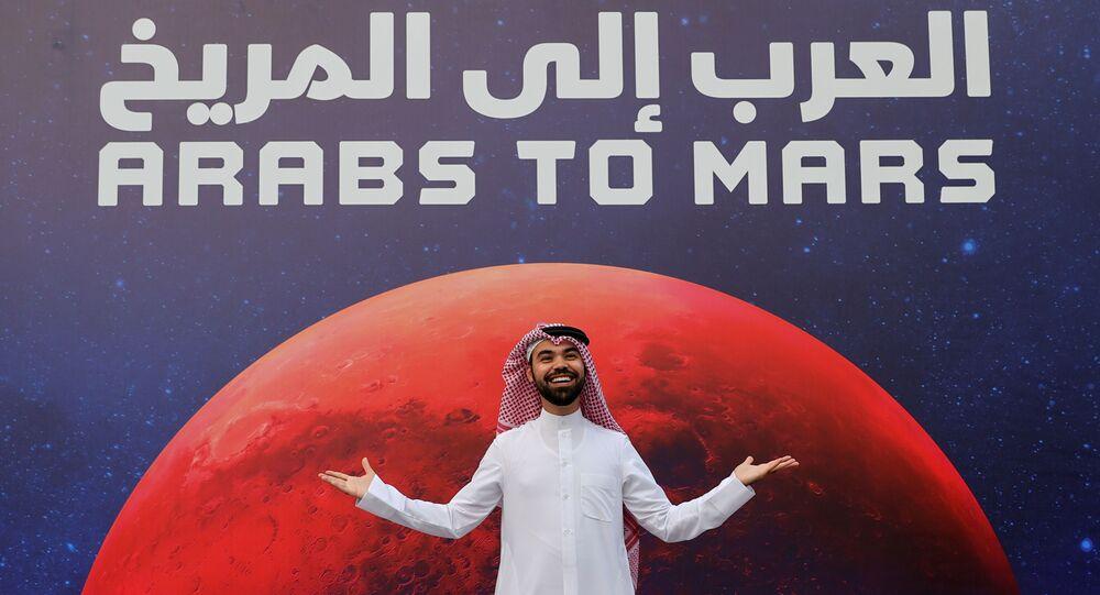 العرب إلى المريخ - لحظة إعلان وصول مسبار الأمل إلى كوكب المريخ، دبي، الإمارات العربية المتحدة 9 فبراير 2021