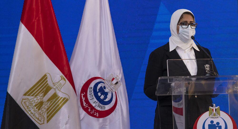 وزيرة الصحة المصرية الدكتورة هالة زايد