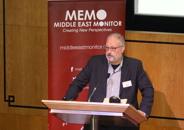 الصحفي السعودي جمال خاشقجي، لندن، إنجلترا 2018