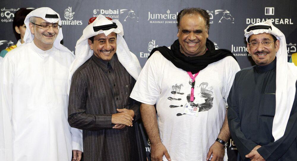 من اليمين: الفنان السعودي، عبد الله السدحان، الفنان الكويتي، داوود حسين، الفنان السعودي، ناصر القصبي، المدير الفني لمهرجان دبي السينمائي، مسعود العلي، 2009