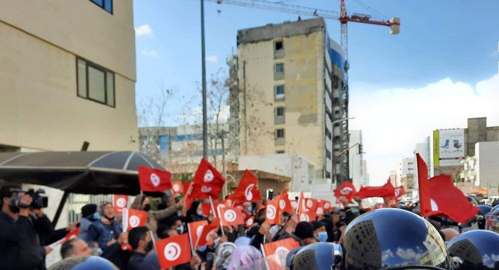 اعتصام قيادات وأنصار الحزب الدستوري الحر