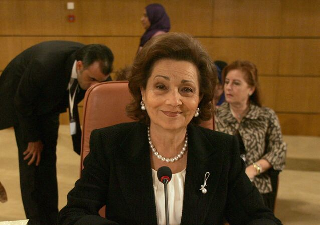 سوزان مبارك، زوجة الرئيس المصري الراحل، حسني مبارك
