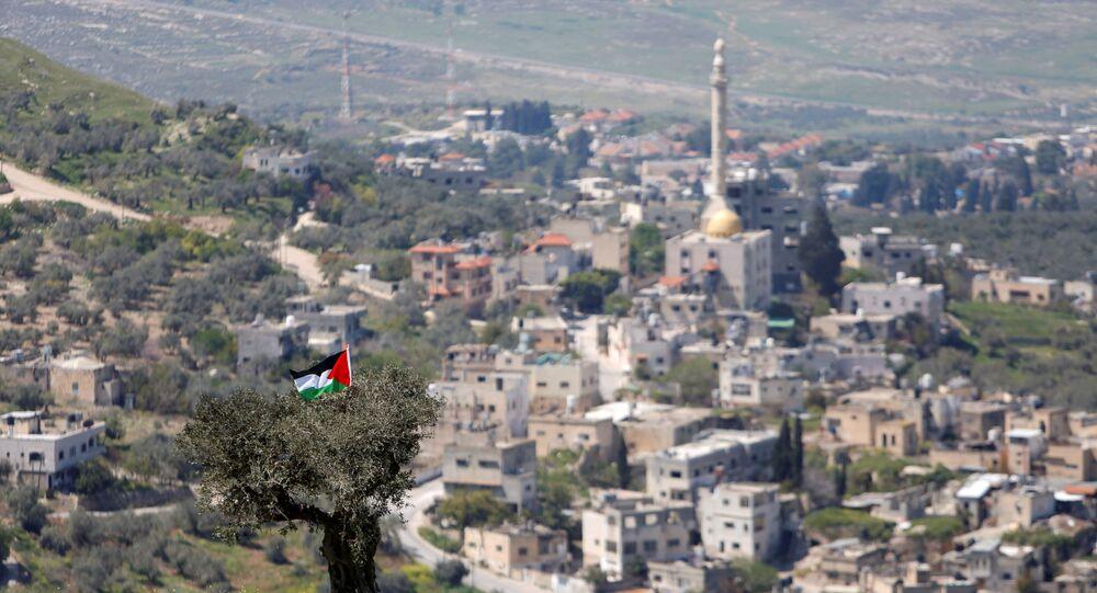 أخبار فلسطين - إسرائيل - مستطونة إسرائيلية في الناقورة بالقرب من نابلس، الضفة الغربية، 29 مارس 2021