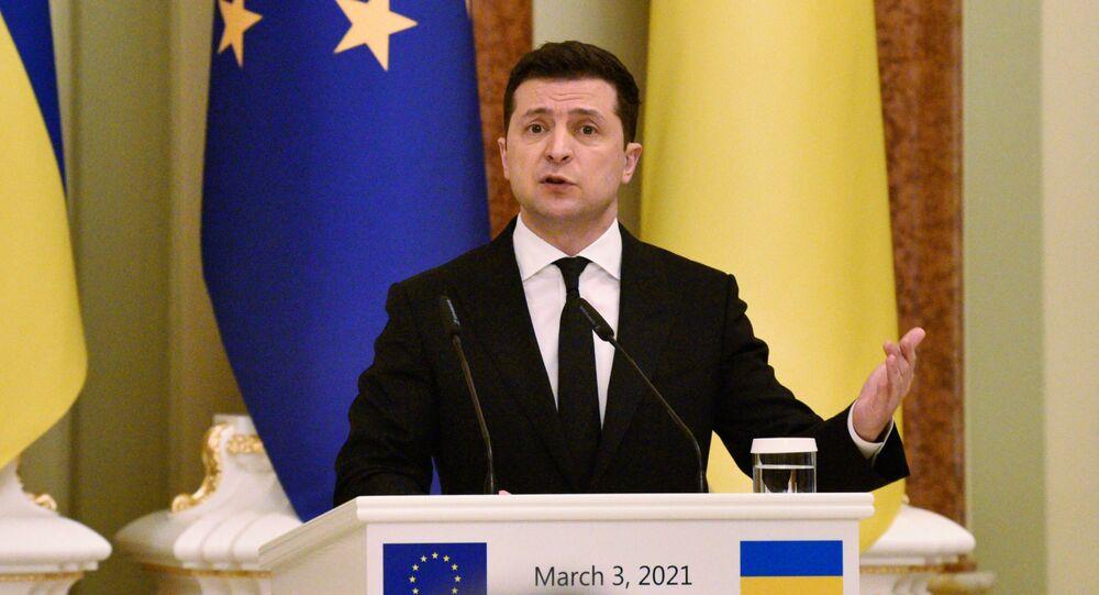 الرئيس الأوكراني فلاديمير زيلينسكي