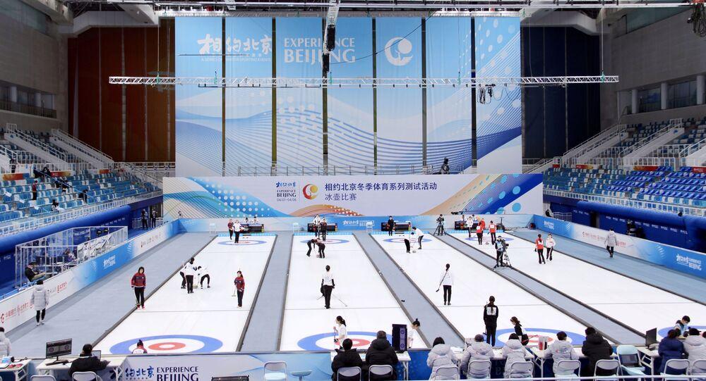 الأولمبياد - بروفة الألعاب الأولمبية الشتوية 2022 في بكين، الصين 4 أبريل 2021