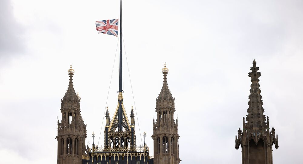 بريطانيا بعد إعلان وفاة الأمير فيليب، لندن 9 أبريل 2021