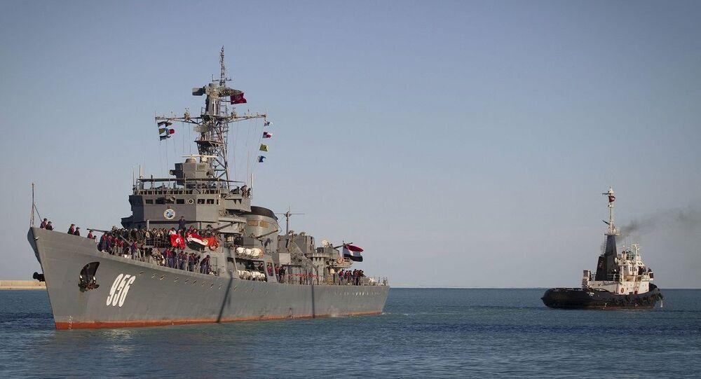 فرقاطة تابعة للقوات البحرية المصرية
