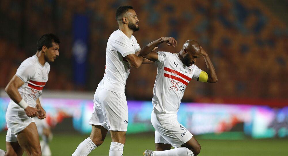 محمود عبد الرازق شيكابالا  قائد فريق الزمالك  خلال مباراة الأهلي