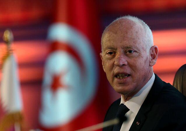 الرئيس التونسي قيس سعيد في قطر 16 نوفمبر 2020