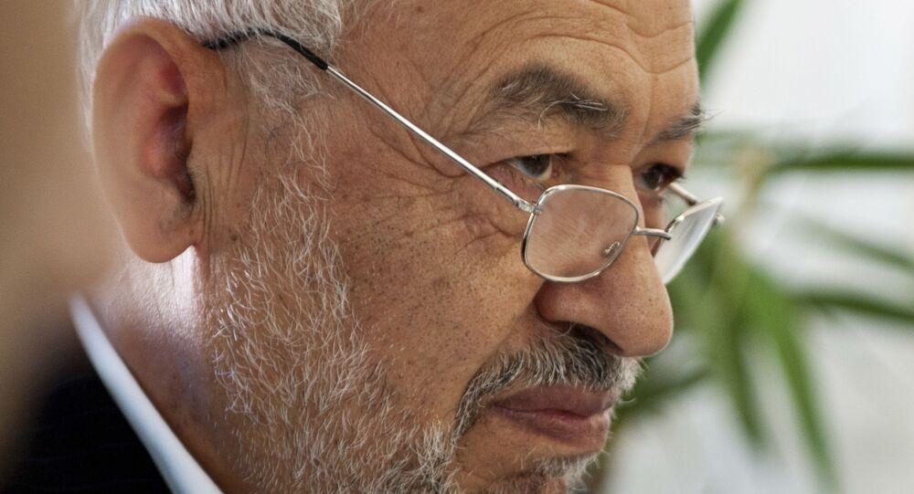 رئيس البرلمان التونسي راشد الغنوشي، صورة من أرشيف 2011