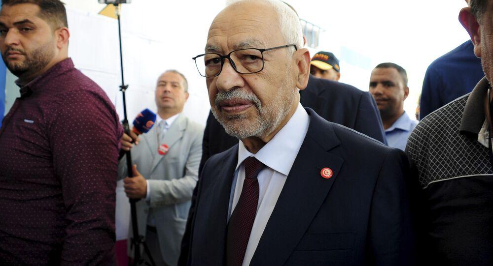 رئيس البرلمان التونسي راشد الغنوشي، صورة من أرشيف 2019