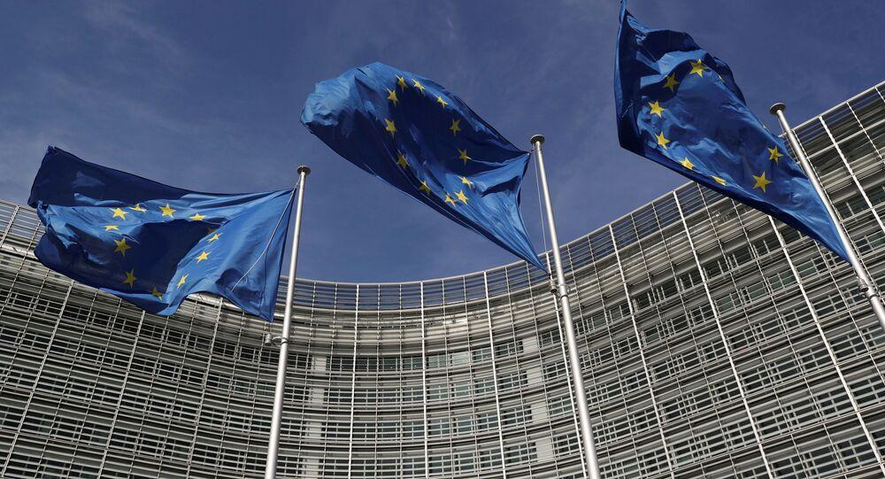 مقر المفوضية الأوروبية في بروكسيل، بلجيكا مارس 2021