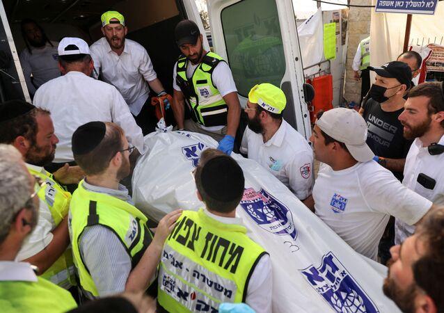 انهيار منصة بمهرجان ديني شمالي إسرائيل، جبل جرمق (ميرون) 30 أبريل 2021