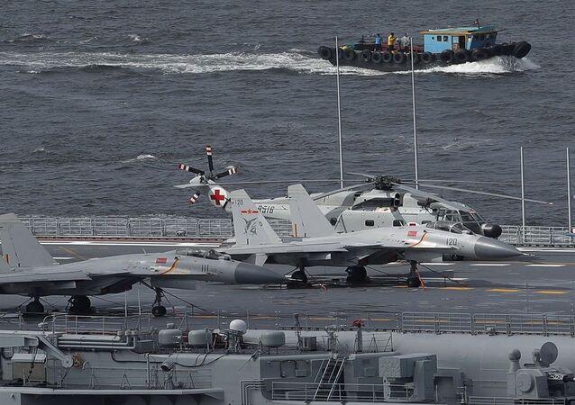 الجيش الصيني... مروحيات ومقاتلات على متن حاملة طائرات صينية