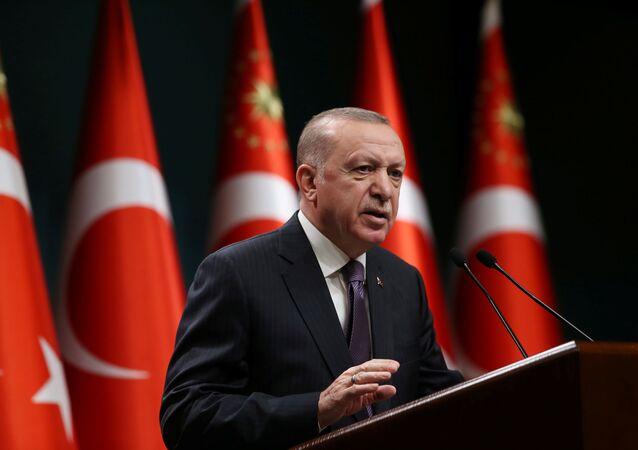 الرئيس التركي رجب طيب أردوغان، تركيا 26 أبريل 2021