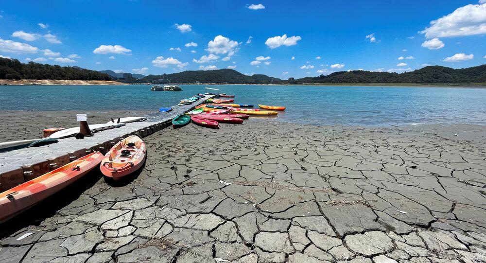 جفاف بحيرة صن مون في تايوان، 15 مايو 2021