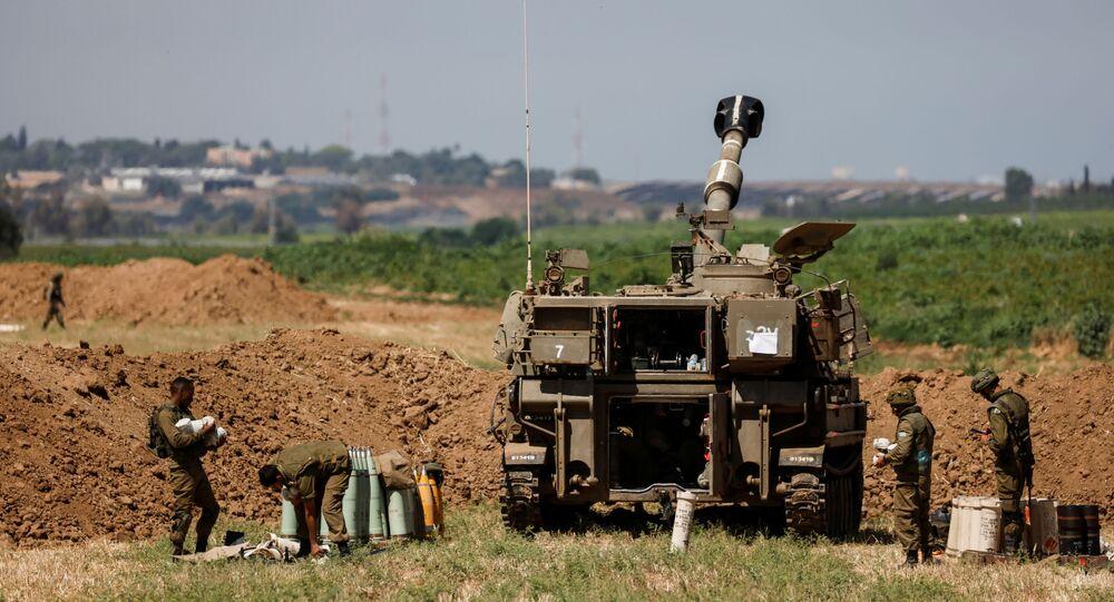 جنود الجيش الإسرائيلي على حدود قطاع غزة، فلسطين، إسرائيل 15 مايو 2021