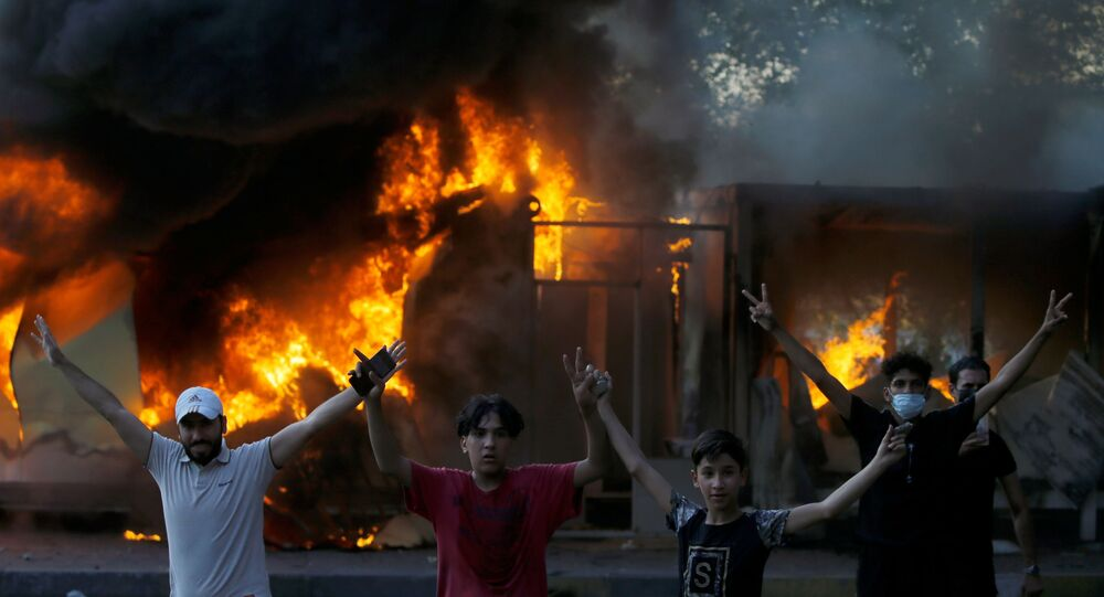 احتجاجات ضد الحكومة العراقية في بغداد