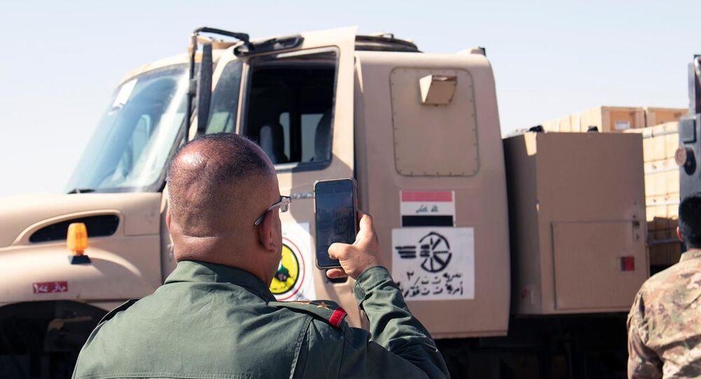 الجيش العراقي تتسلم أسلحة قوات التحالف الدولي
