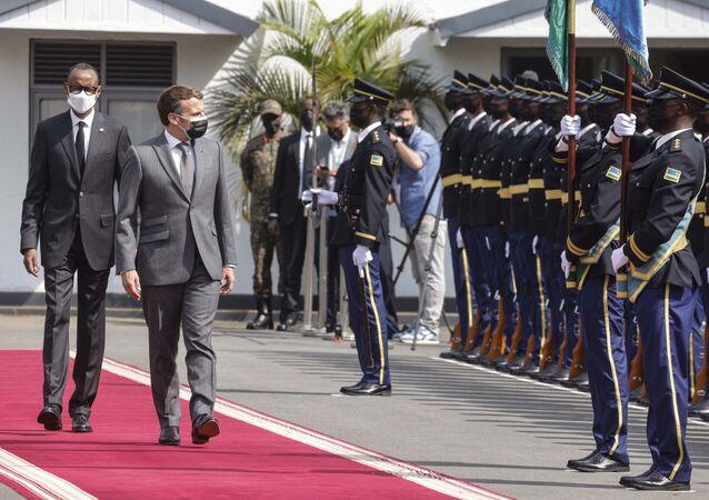 زيارة الرئيس الفرنسي لرواندا رفقة نظيره بول كاغامي 27 ماي 2021