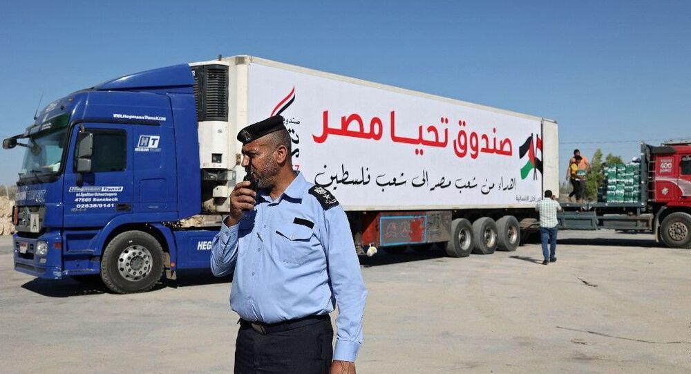 مساعدات صندوق تحيا مصر غزة