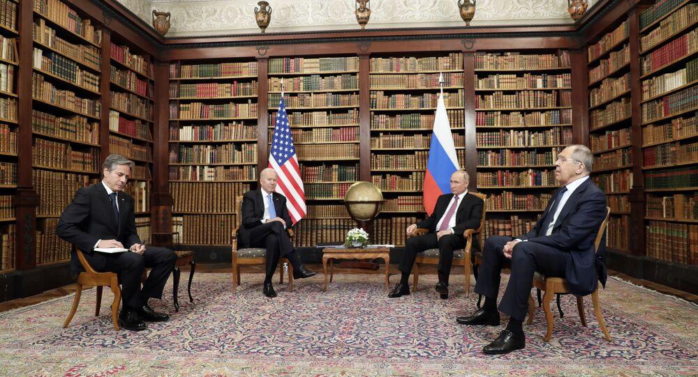 لقاء بوتين وبايدن في جينيف