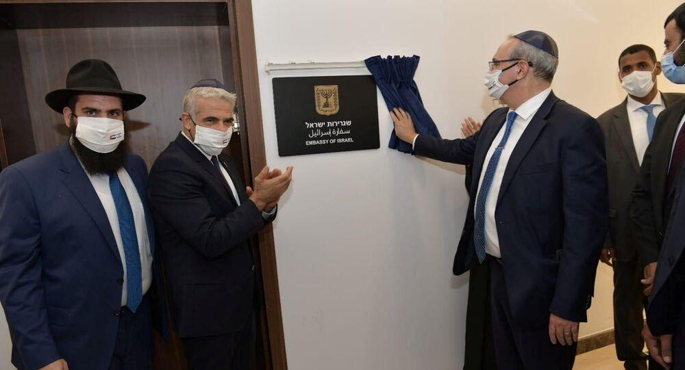 وزير الخارجية الإسرائيلي يائير لابيد في الإمارات
