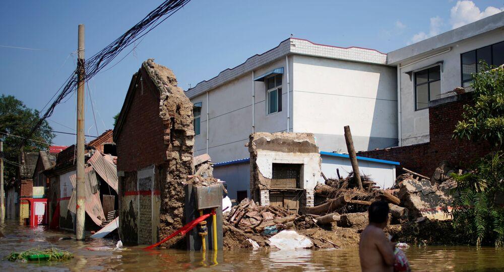 الفيضانات بمقاطعةهينان الصينية