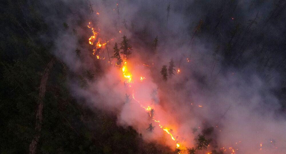 حرائق الغابات في ياقوتيا، روسيا  16 يوليو 2021