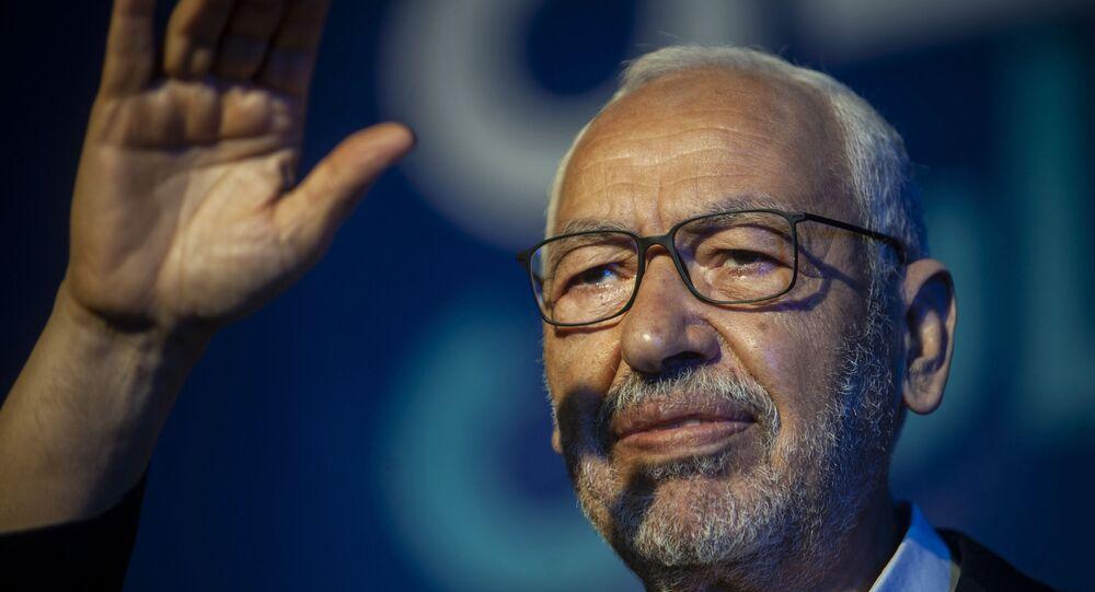 راشد الغنوشي، رئيس حزب النهضة التونسي