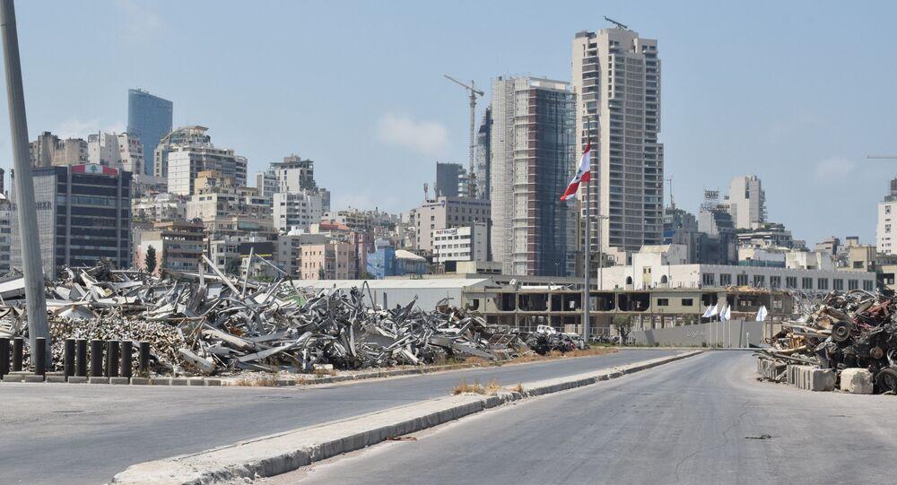 مرفأ بيروت صبيحة الذكرى الأولى للانفجار، لبنان 4 أغسطس 2021
