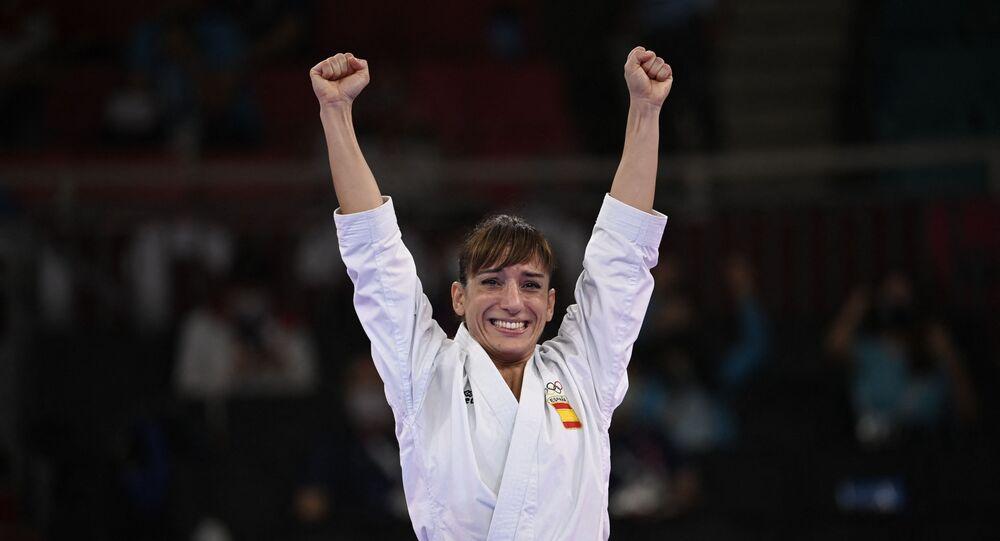 لاعبة الكاراتيه الإسبانية ساندرا سانشيز