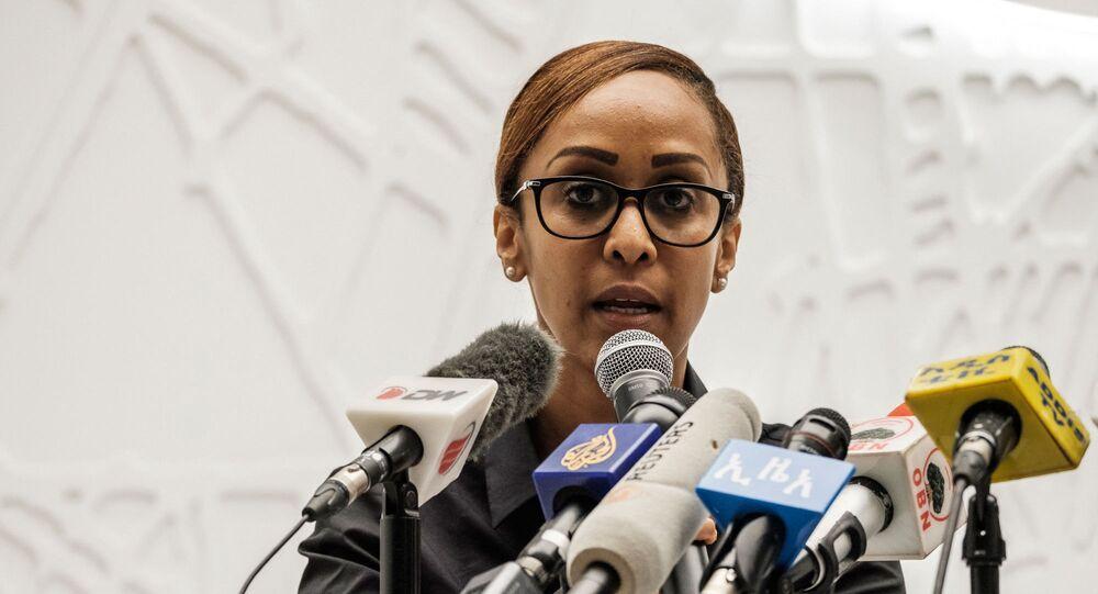 بيلين سيوم، السكرتيرة الصحفية لمكتب رئيس الوزراء الإثيوبي، آبي أحمد